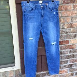Sneak Peek distressed jeans